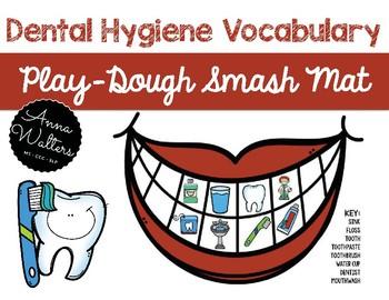 Dental Hygiene Vocabulary: Smash Mat