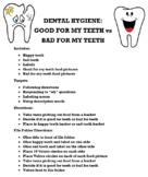 Dental Hygiene: happy tooth VS sad tooth