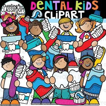 Dental Kids Clipart {Dental Clipart}