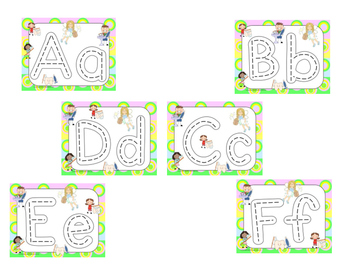 Dental Kids Race to Trace Alphabet Mats (Common Core)