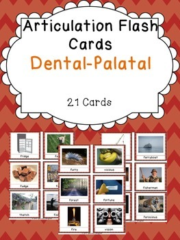 Apraxia & Articulation Cards Dental-Palatal