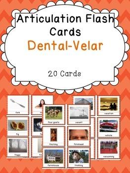 Apraxia & Articulation Cards Dental-Velar