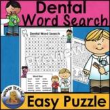 Dental Word Search * Easy