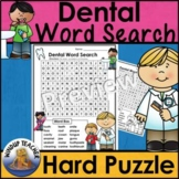 Dental Word Search  *Hard