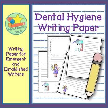 Writing Paper Templates - Dental Hygiene Theme