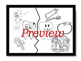 Dental health A3 coloring sheet