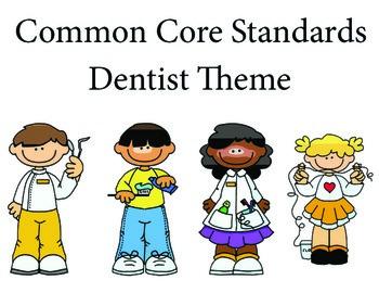 Dentist 1st grade English Common core standards posters
