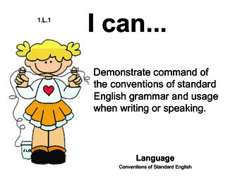 Dentist 1st grade English Common core standards posters