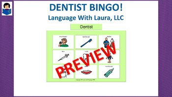 Dentist Bingo! Multiple Boards [speech therapy and autism]