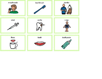 Dentist Bingo! Single Board [speech therapy and autism]