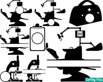 Dentist Clip Art Dental Cutting Community Tools medic doctor Health stamps -52S
