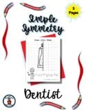 Dentist - Community Helper - Simple Symmetry - Draw Color