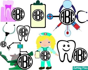 Dentist Doctor Nurse dental Clip art SVG Cutting files super hero community 51S