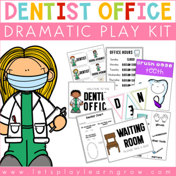 Dentist Dramatic Play by Heidi Dickey | Teachers Pay Teachers |Preschool Dramatic Play Dentist