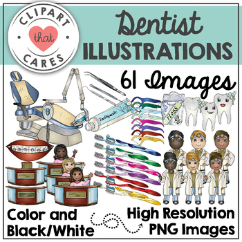 Dentist Illustrations Clipart by Clipart That Cares