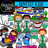 Dentist Kids {Creative Clips Digital Clipart}