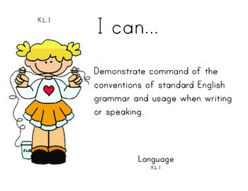 Dentist Kindergarten English Common core standards posters
