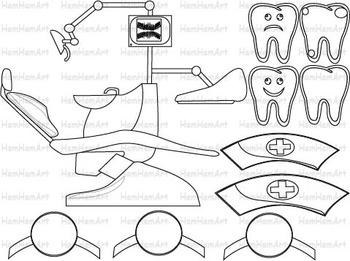 Dentist Outline Clip Art PNG,EPS medic line stamp red cross dental medical-063-