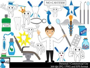 Dentist Set Clipart Digital Clip Art Graphics 53 images cod22