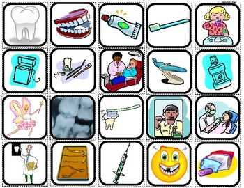 """Dentist & Teeth"" Picture Matching/Memory Game/Flashcards for Autism"