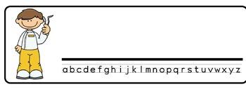 Dentist Theme Desk Nameplates (Set of Four)