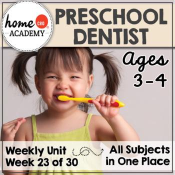Dentist Community Helper - Weekly Unit for Preschool, PreK or Homeschool