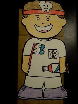 Dentist paper bag puppet