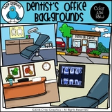 Dentist's Office Background Scenes Clip Art Set - Chirp Graphics