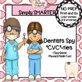 """Dentists Spy """"CVC""""-ties:  NO PREP I Spy CVC Words Game"""