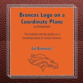 Denver Broncos Logo on the Coordinate Plane