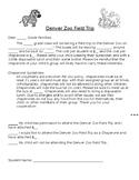 Denver Zoo Field Trip Permission Slip