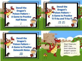 Denzil the Dragon's Poison Pattern - A Bundle of Rhythm Games