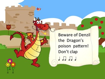 Denzil the Dragon's Poison Pattern - A Game for Practicing Ta and Ti-Ti