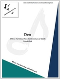"""Deo"" Choir Music with Track for Elementary or Middle School Choir"