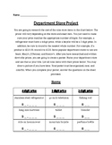 Department Store Project (addition and subtraction word pr