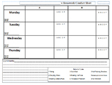 Departmentalized Homework/Conduct Sheet