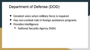 Departments of State, Defense, and Homeland Security PowerPoint and Notes