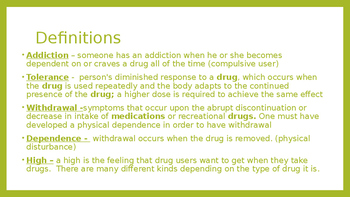 Dependency, Addiction, and Treatment