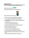 Dependent Clauses - Comma Rule Worksheet