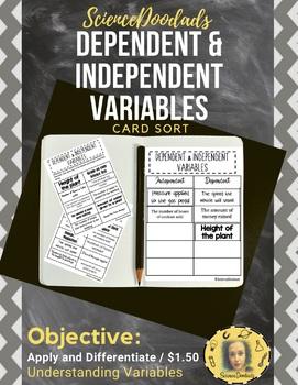 Dependent & Independent Variables - Card Sort