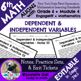 Dependent & Independent Variables Notes & Practice 6th Grade Math Module 4