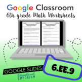 Dependent & Independent Variables Worksheets for Google Classroom™ ⭐ 6.EE.9