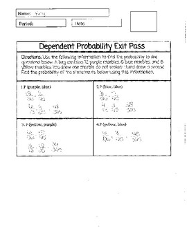 Dependent Probability Exit Pass