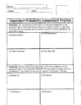Dependent Probability Practice