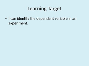 Dependent Variables - Self-Paced Lesson