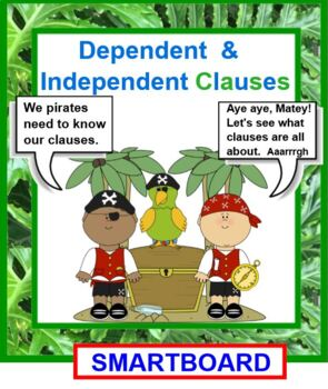 Dependent and Independent Clauses Pirate Theme
