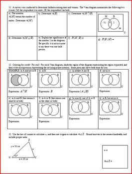 Dependent and Independent Events IB Spring 2013 with answer key