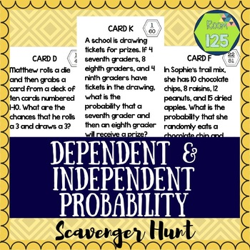 Dependent and Independent Probability Scavenger Hunt