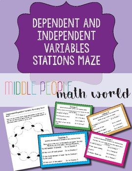 Dependent and Independent Variables Stations Maze