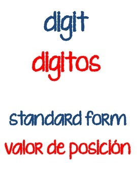 Depict This! Math vocab 3rd-4th (English/Spanish)